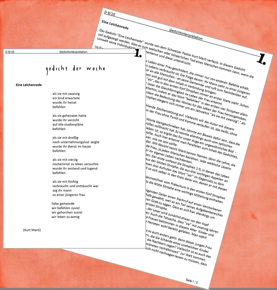 D 9_10 Gedicht Woche 1