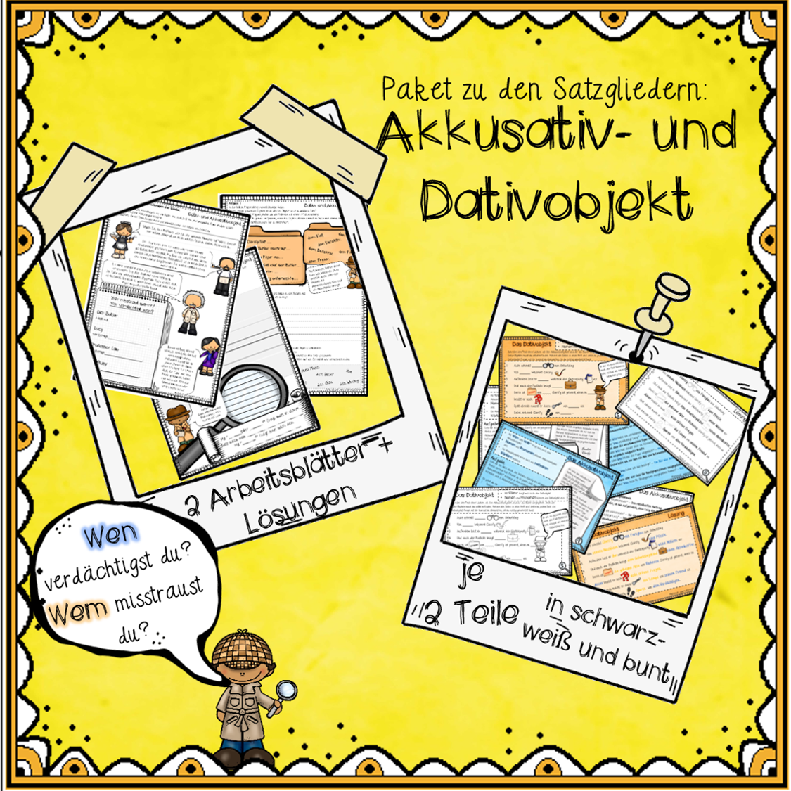 Paket Akkusativ und Dativobjekt