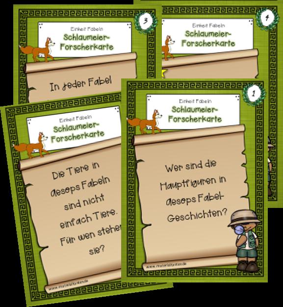 Fabeln 2 Schlaumeierkarten