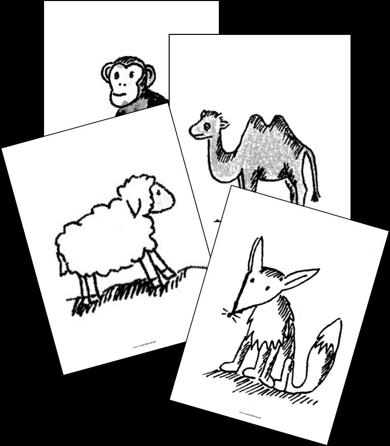 Fabeln 2 Tafelkarten Tiere