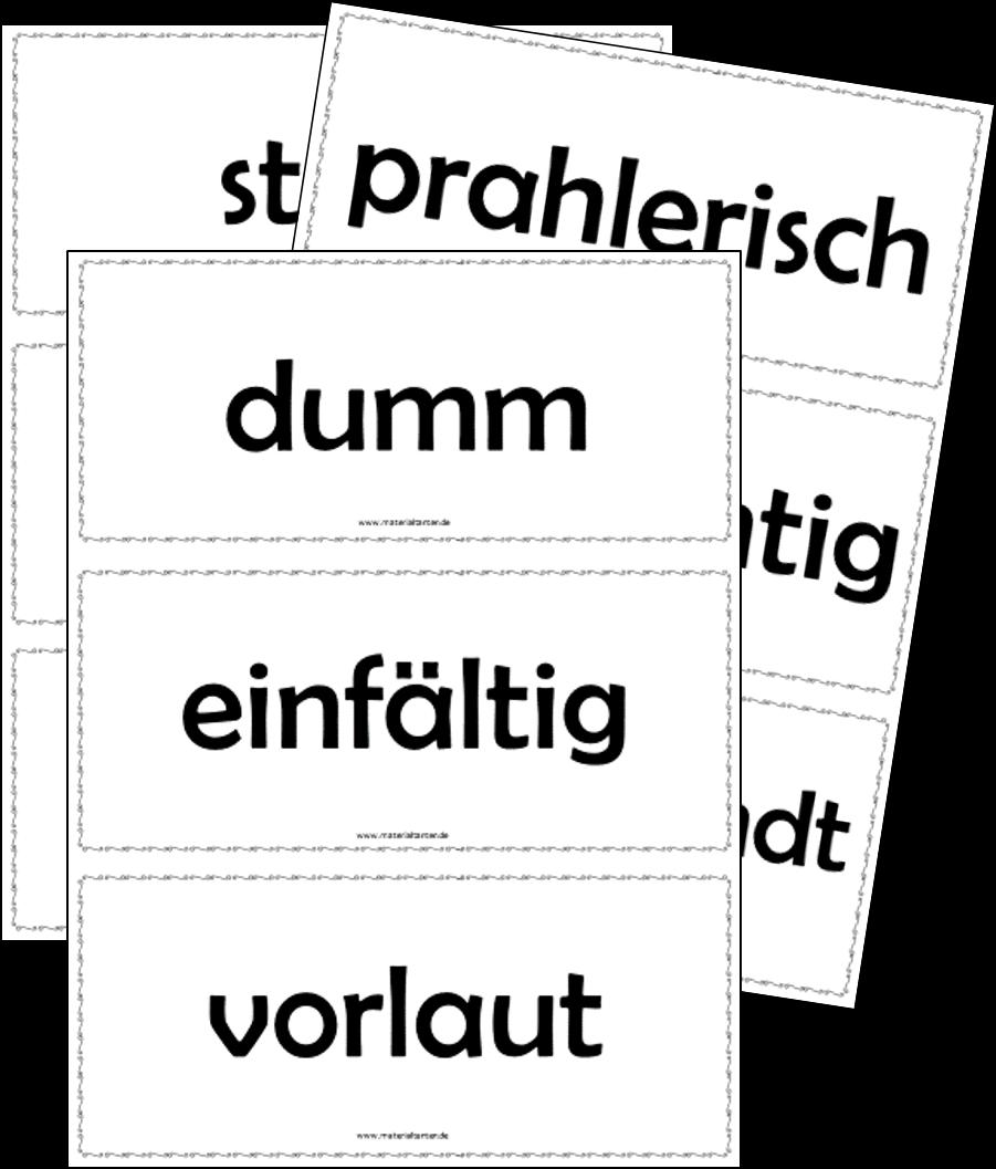 D 6 Fabeln Teil 2 - Tiere und ihre Eigenschaften - Materialtanten