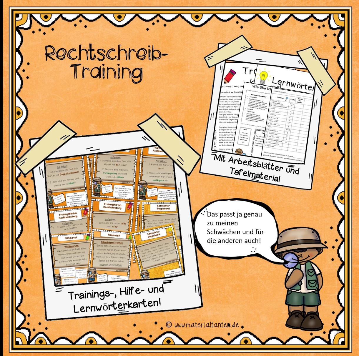 d 56 rechtschreibung trainingskarten materialtanten
