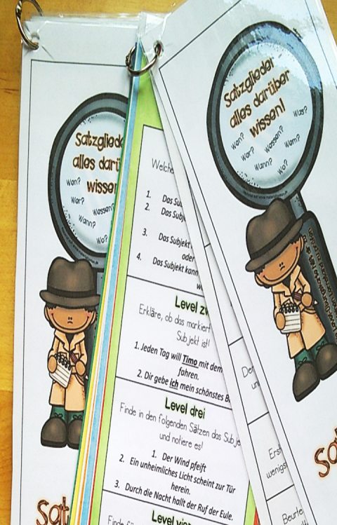 D 5_6 Satzglieder LevelÜbungskarten Bild 2