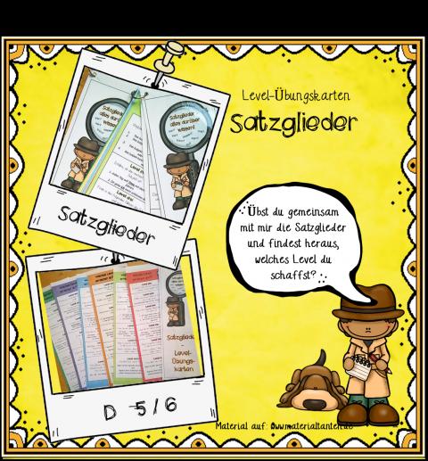 D 5_6 Satzglieder LevelÜbungskarten Deckblatt
