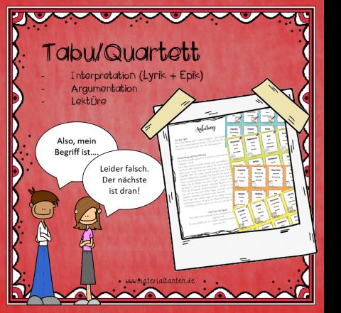 Tabu_Quartett Prüfungsthemen Bild1