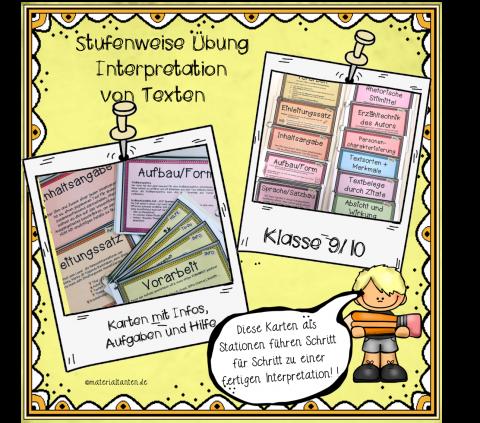 Textinterpretation Karten Deckblatt