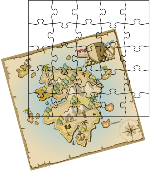 Insel als Puzzle